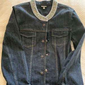 J. Jill Women's Jean Jacket Size Medium